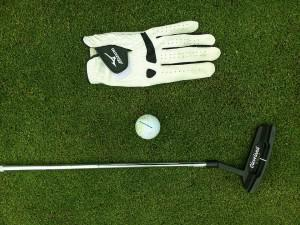 Golf Club, Golf Ball, and Golf Glove